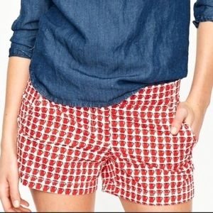 🍎 J. Crew Apple shorts mini delicious